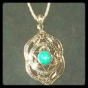 Betsey Johnson Boho Turquoise Necklace